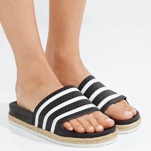 Adidas Adilette Rope-Trimmed Slides